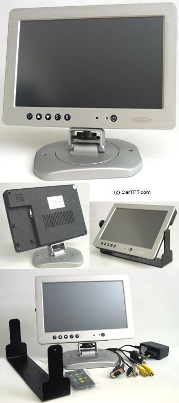 """1020TSV -- TFT 10.2"""" -- VGA and PAL/NTSC -- with Touchscreen <b>USB</b>"""