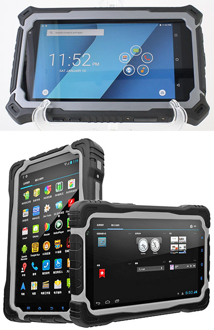 """CTFPND-8C (7"""" Android TabletPC/PND, Waterproof IP67, Ruggedized, 1.5Ghz Quad CPU/3GB RAM, GPS/WLAN/BT/3G/4G, Android 7)"""